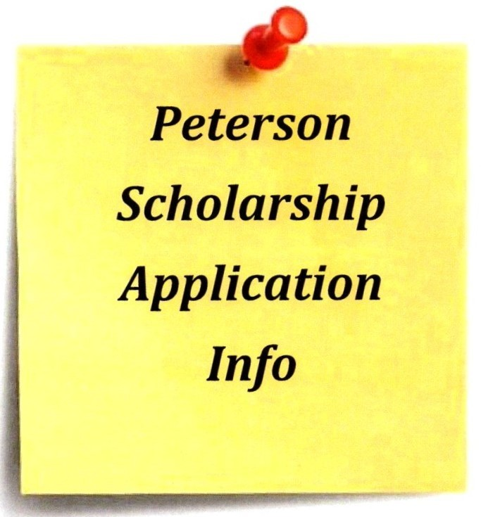Peterson Scholarship Applications
