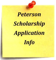 Peterson Scholarship Applications- Deadline April 15th